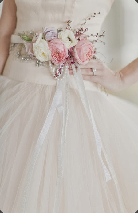 wearable Fresh-Flower-Belt-on-Bridal-Gown-600x900  Elisabeth Millay Photography and rebecca shepherd floral design