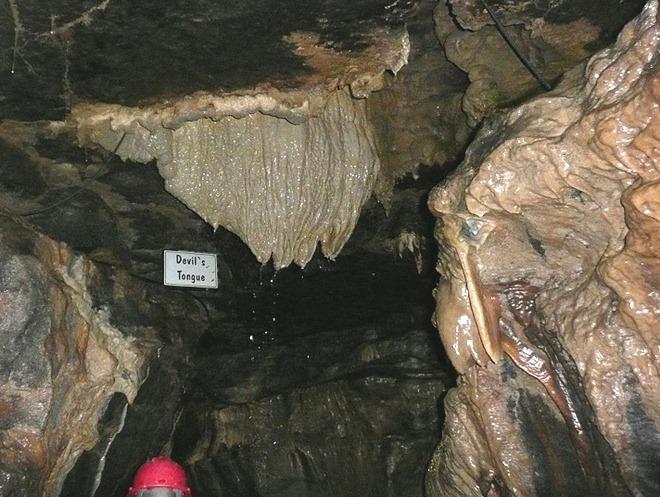 White Scar Cave Devil's Tongue