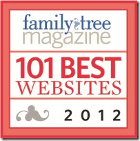 Ancestry Insider is one of the 100 best genealogy websites for 2012