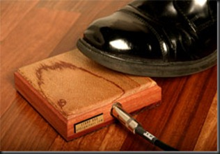 pedal percusion stomp box wood