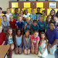 WBFJ Cicis Pizza Pledge - Calebs Creek - Mrs. Grubbs 5th Grade Class - Kernersville - First Visit