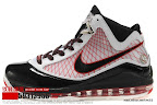 zlvii fake colorway white black red 4 09 Fake LeBron VII