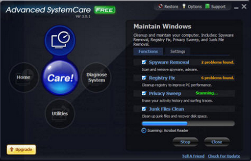 phan mem tang toc may tinh Advanced SystemCare Free