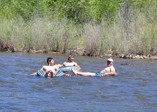 Enjoying their float down the river!