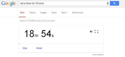 google search timer