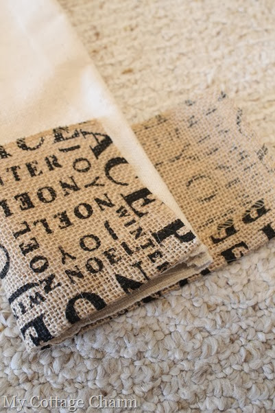 burlap stocking tutorial