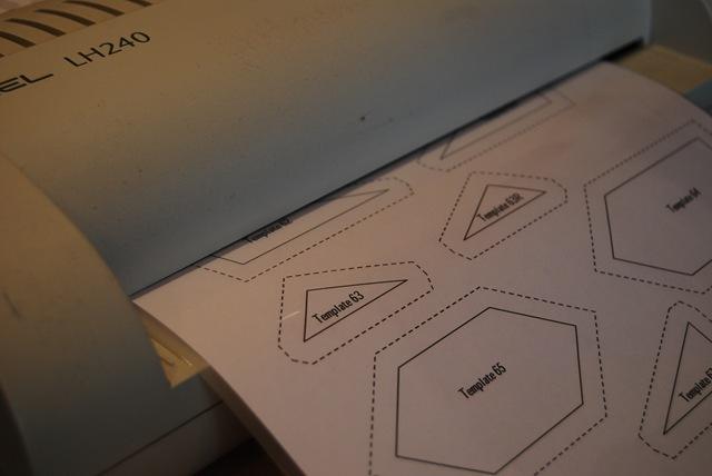 Laminating templates