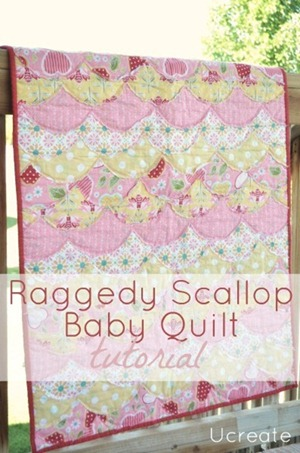scallop baby quilt tutorial