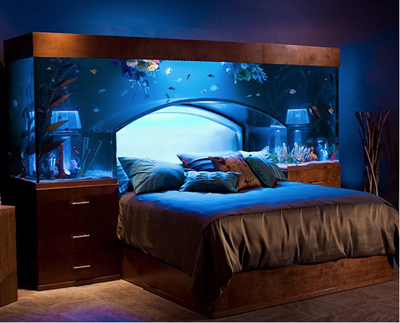 1. AQUARIUM OVER YOUR BED