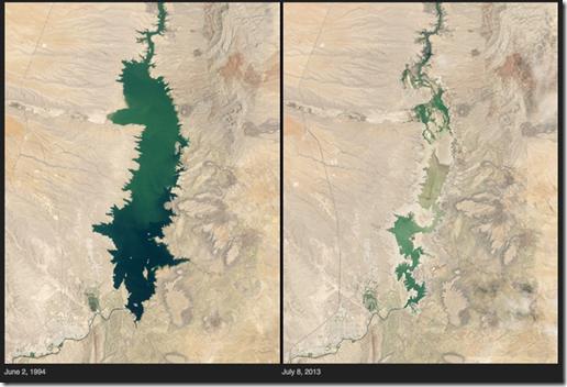 Lago seco en Nuevo Mexico