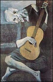 pablo-picasso-painter-amp-sculptor-pablo-picasso-painting-velho cego tocando guitarra