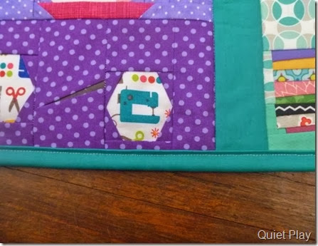 Teal binding And Sew On BoM wallhanging