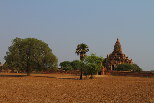 A Bagan Temple on a hot summer afternoon, Burma