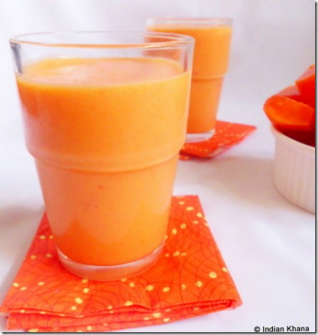 papaya smoothie easy summer drink