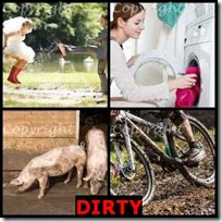 DIRTY- 4 Pics 1 Word Answers 3 Letters