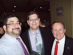Stonewall Democrats Past President Brice Peyre, New York State Assemblyman Micah Z. Kellner (AD-65) and Stonewall Democrats Treasurer Joseph G. Hagelmann, III.