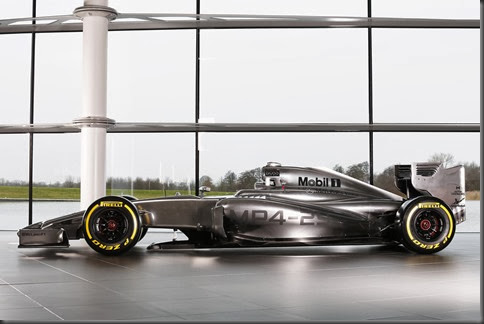 McLaren Mercedes MP4-29 - Side View