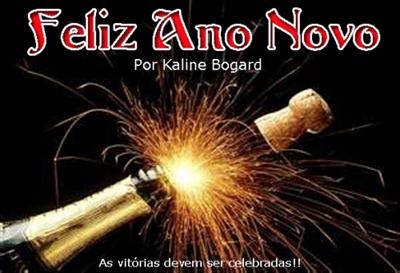 Feliz Ano Novo por Kaline Bogard