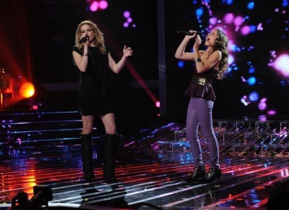 LeAnn Rimes with Carly Rose at The X Factor USA finale