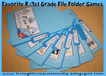 Favorite Kindergarten and 1st Grade File Folder Games - FREE