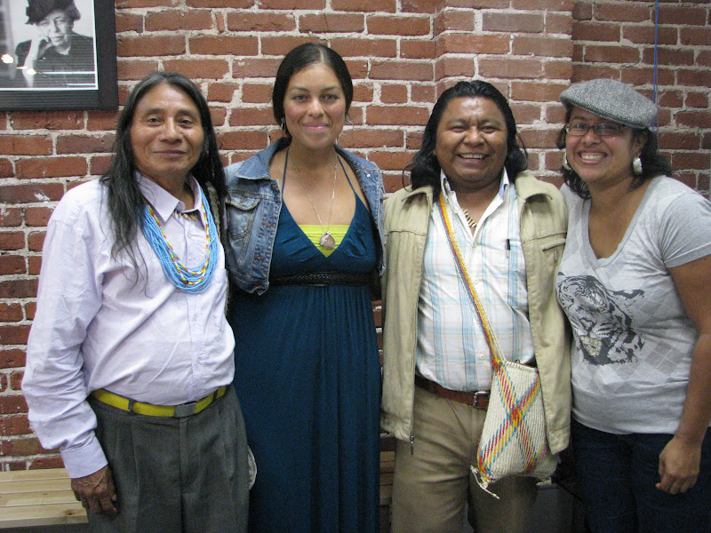 Amongst other friends, Berito and Gilberto re-connected with members of the organization Mujer U'wa, which visited their territory in August of 2010. See (http://www.peacedevelopmentfund.org/page/mujer) for more information about Mujer U'wa's initiatives.
