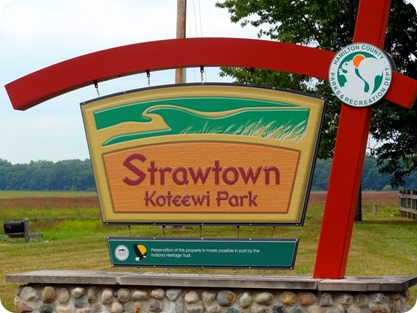 Strawtown Koteewi park sign