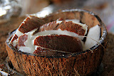 Sample The Coconut At Mr. Nice Fruit Stand - Roseau, Dominica