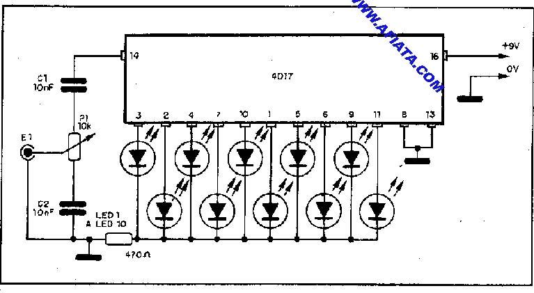 hobi elektronika  kumpulan rangkaian vu meter atau