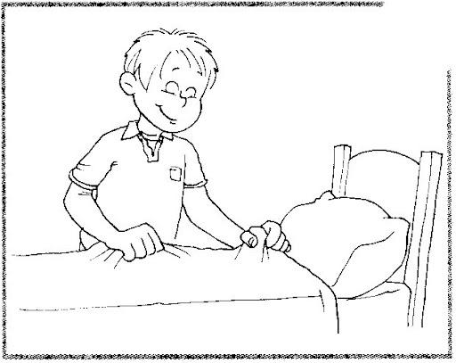 Imagenes para colorear de niños haciendo tareas - Imagui