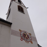 church tower in Seefeld, Tirol, Austria