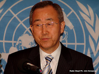Ban Ki-moon, secrtaire gnral de l'Onu.Radio Okapi/ Ph. John Bompengo