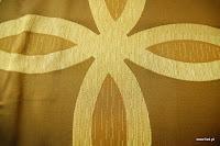 Ekskluzywna tkanina trudnopalna. Na zasłony, poduszki, narzuty, dekoracje. Brązowa.