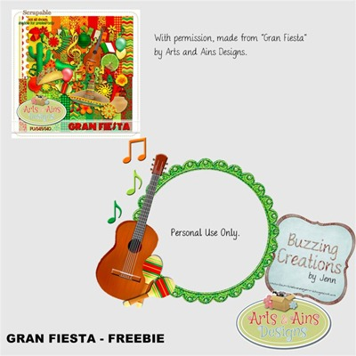 Arts and Ains Designs - Gran Fiesta - Frame Freebie Preview