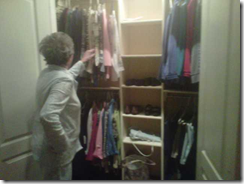 mother looking at clothes