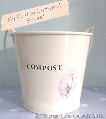 coffee compost bucket