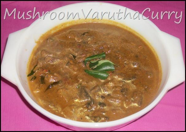 Mushroom Varytha Curry