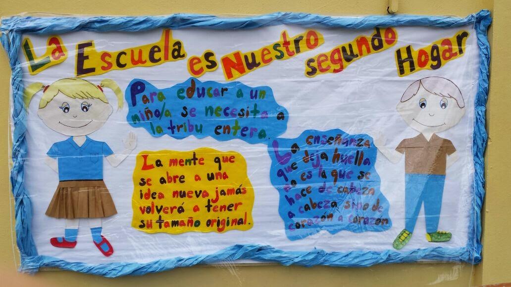 Salud bienvenida al nuevo regreso del segundo semestre for Modelos de carteleras escolares