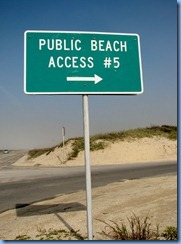 6579 Texas, South Padre Island - Padre Blvd - Beach Access #5 sign