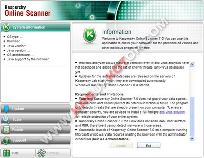 Kaspersky Online Scanner 7.0
