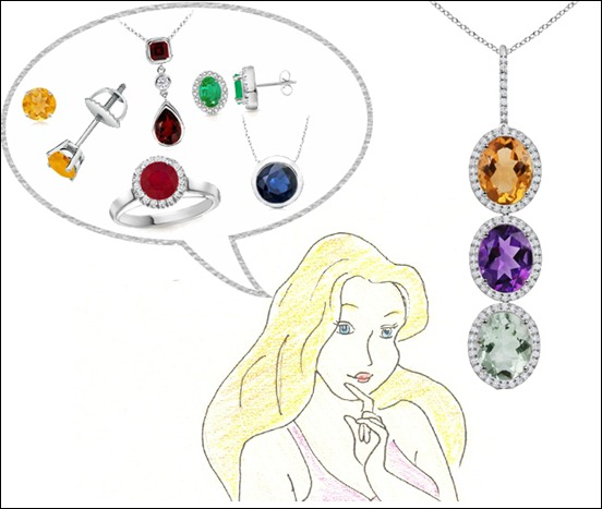 birthston  jewelry collection at Angara.com