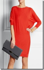 Alexander McQueen Assymetric Red Sweater Dress