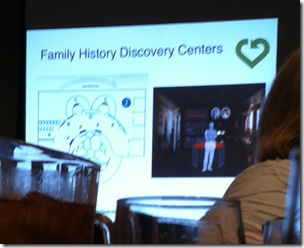 Example floor plan of a Family History Discovery Center