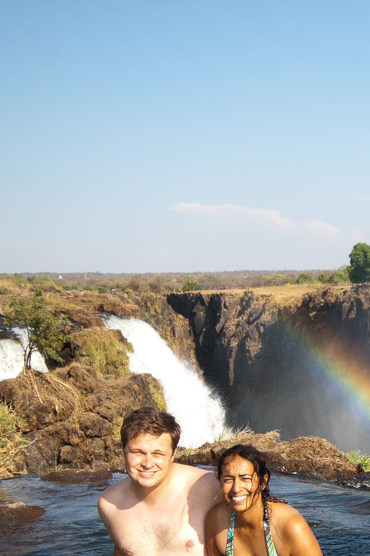 Sitting on top of Victoria Falls