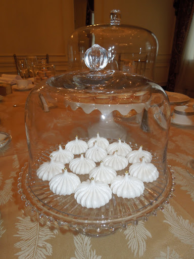 Light and airy meringues were gorgeous enough to double as decor.
