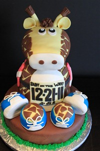 Triathlon Giraffe Cake