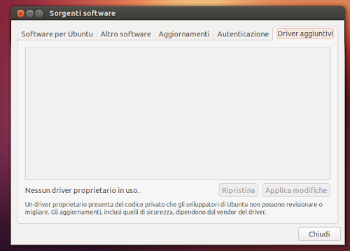Ubuntu 12.10 - Sorgenti Software