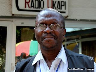 Benoit Kambere, journaliste (Les échos de la région des grands lacs). Radio Okapi/Ph. John Bompengo