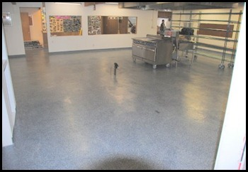 Samish Island Kitchen New Epoxy  Floor  02, 25, 2012