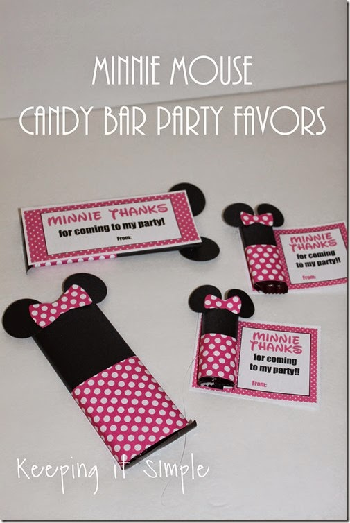 Minne Mouse Candy Bar Party Favor with Printable