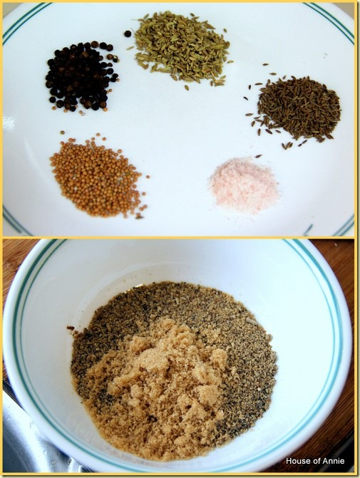spices for grilled 3-layer pork belly